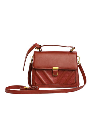 Top Handle Bag - Maroon
