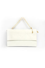 Load image into Gallery viewer, Pearl Handle Clutch - White