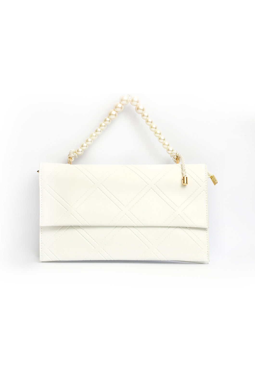 Pearl Handle Clutch - White