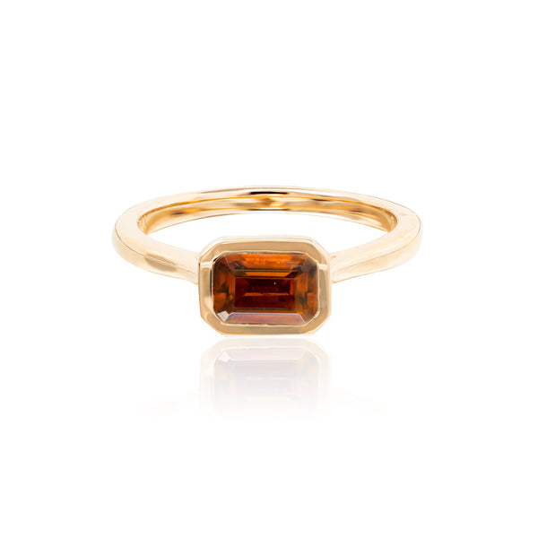 Citrine and Rose Gold and diamonds