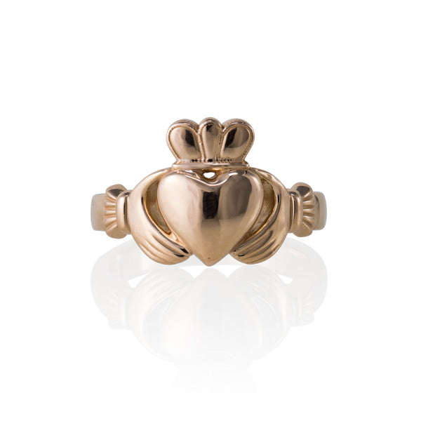 14KT ROSE GOLD CLADDAGH RING