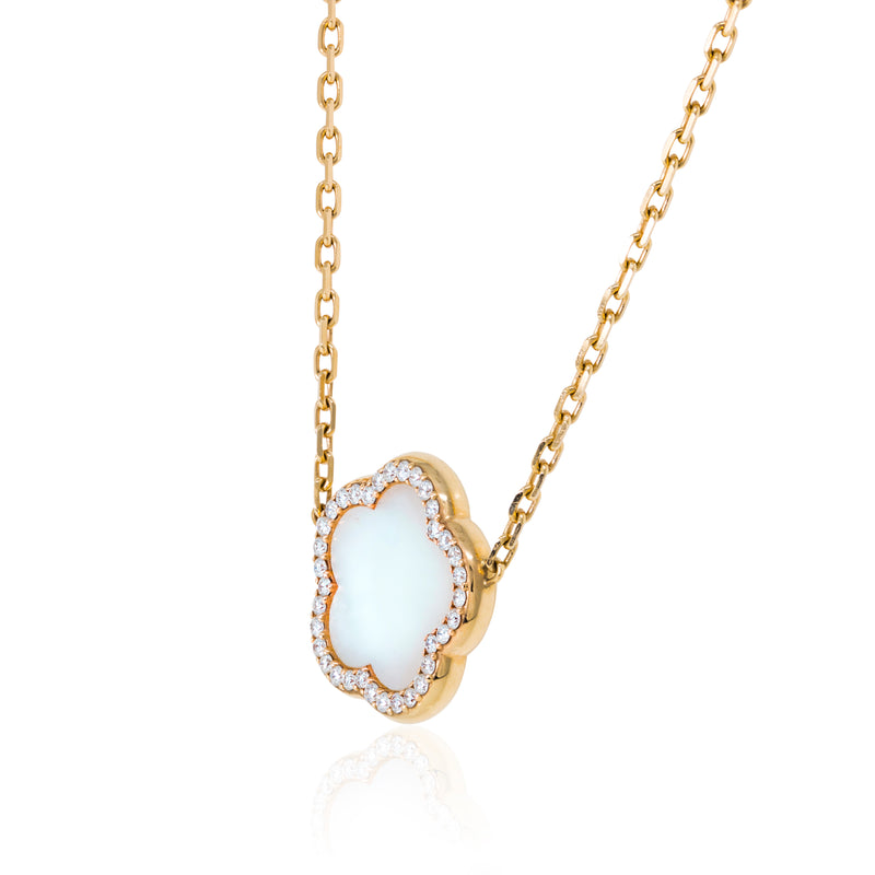 Mother of Pearl & Diamonds, Created in Italy.