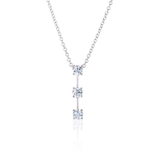 Triple diamond pendant