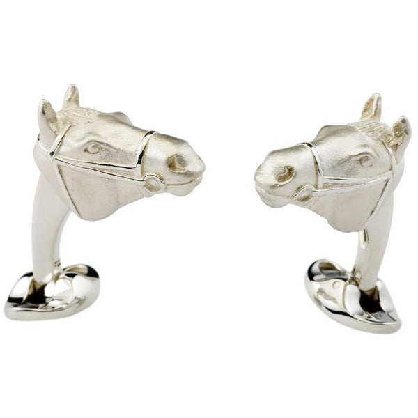 Sterling Silver Horse's Head Cufflinks