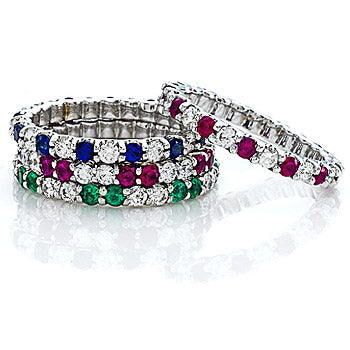 Color & Diamond Eternity Ring