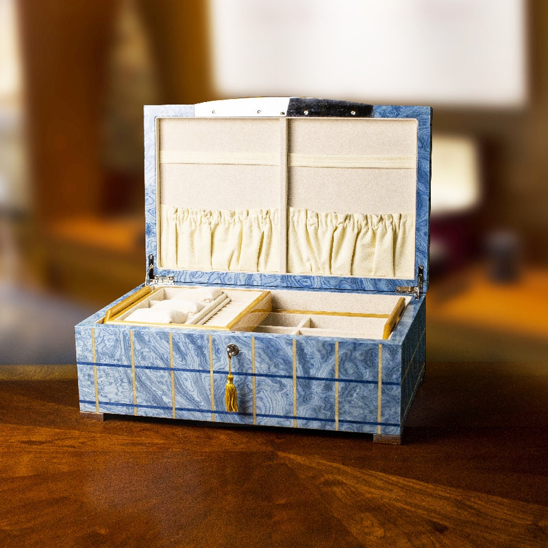 Sea Blue large jewelry box