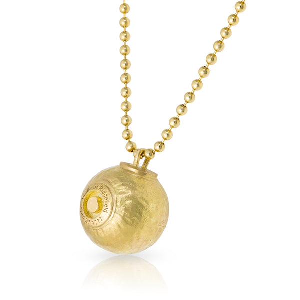 Cannonball Pendant 18kt Yellow Gold