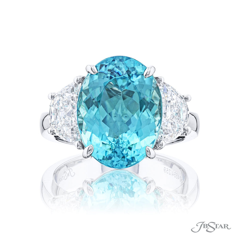 Paraiba and diamond Ring