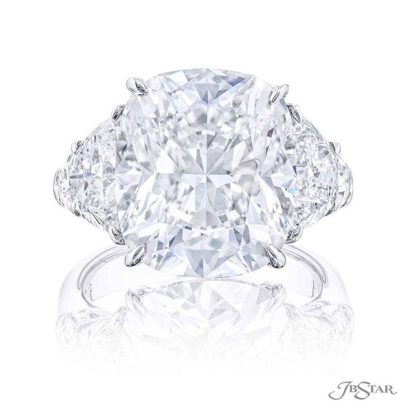 Magnificent diamond ring featuring an exquisite 10.02 ct. cushion