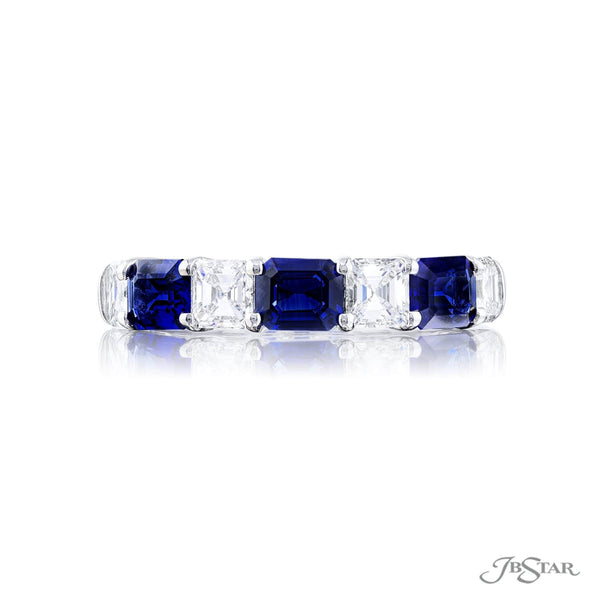 Stunning sapphire and diamond band