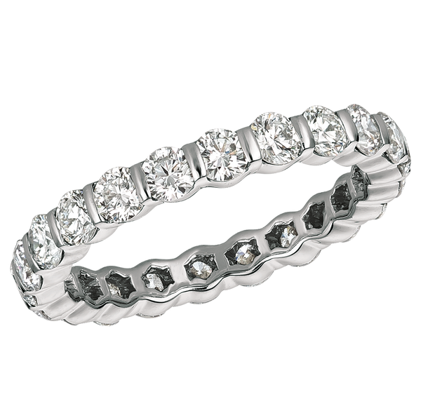 Platinum Round 1.85 ct Diamond Eternity Ring