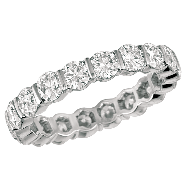 Platinum Round 2.60 ct Diamond Eternity Ring