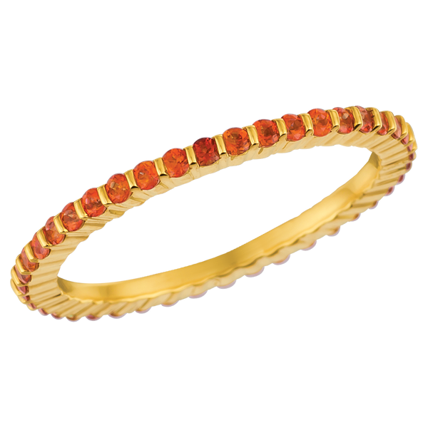18KT Yellow Gold Poppy Topaz Eternity Ring