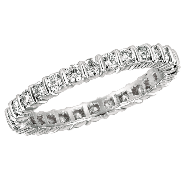 Platinum Round 1.10 ct Diamond Eternity Ring