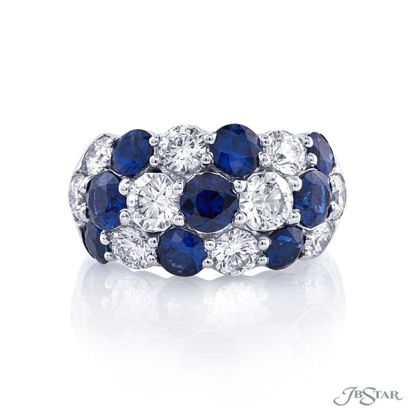 Spectacular sapphire and diamond band