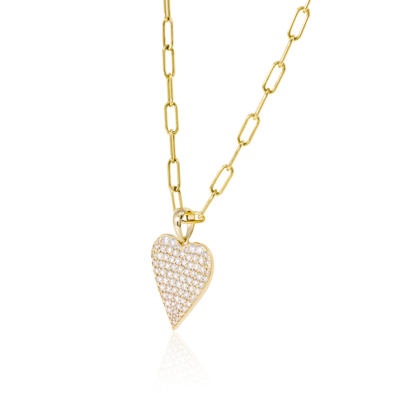 Pave  set diamond Heart pendant