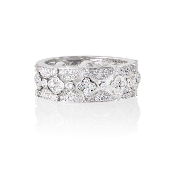 Diamond Stackable 18kt White Gold Ring