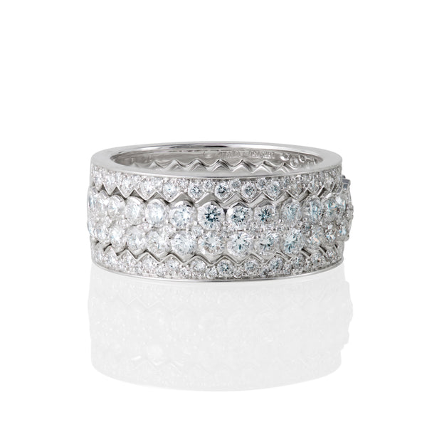 18kt White Gold and Diamond Stackable Ring 1.79 Carats