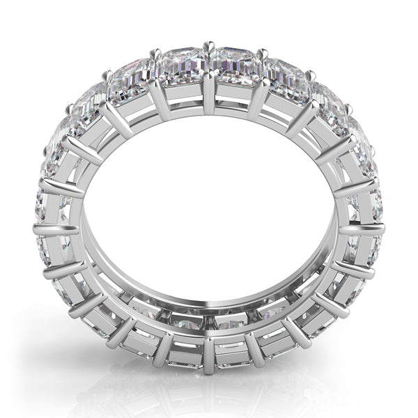 Mutual Prong Emerald-Cut Diamond Eternity Band