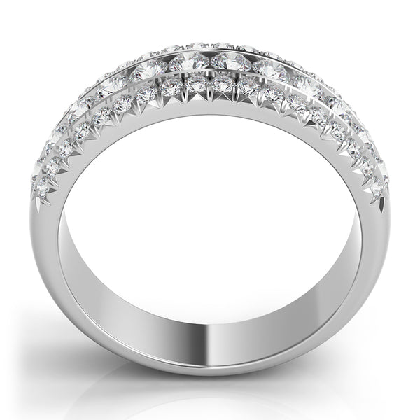 Round Diamond Band with Pave Diamond Border