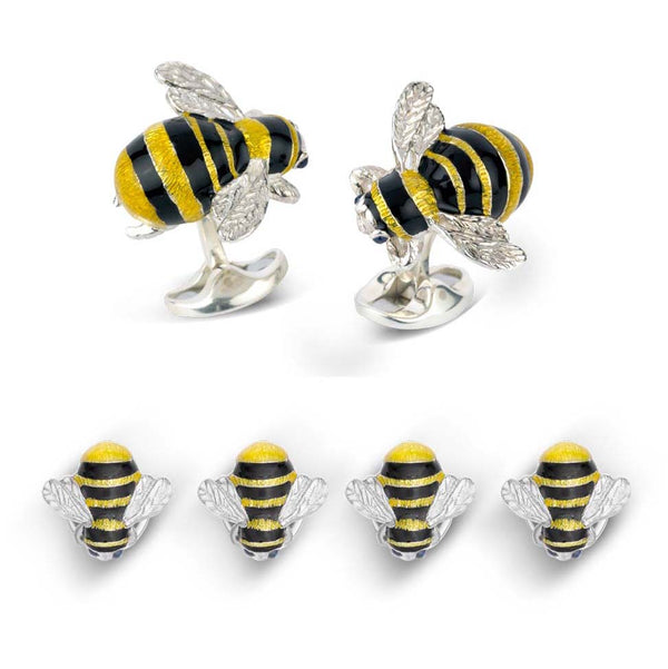 Sterling Silver Bumble Bee Dress Stud Set