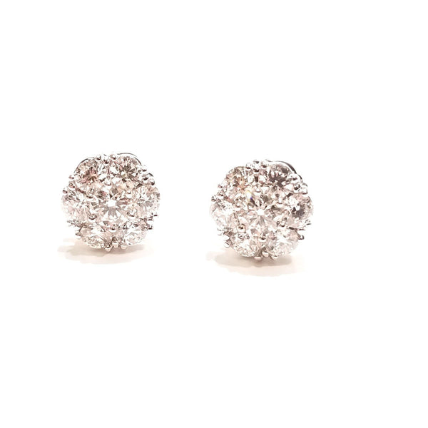 Diamond snowflake earrings-available in various sizes.