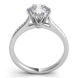 Pave Diamond Split-Shank Engagement Ring