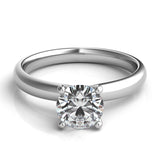 Classic Rounded 4-Prong Solitaire Engagement Ring