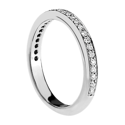 Rounded Petite Pave Diamond Band