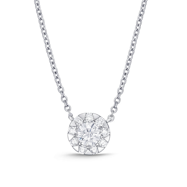 Bouquet Everyday Diamonds and White Gold Necklace .10 ct.