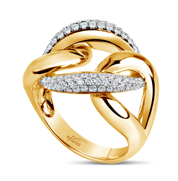 PRETZEL RING 18KT YELLOW GOLD