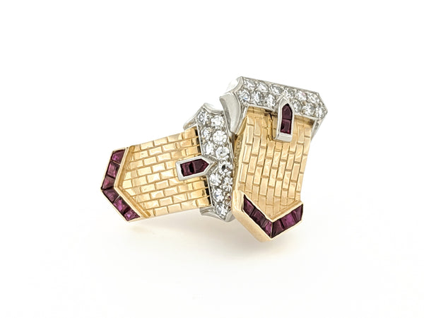 "Art Deco ""Belt-Buckle"" Style Earrings"