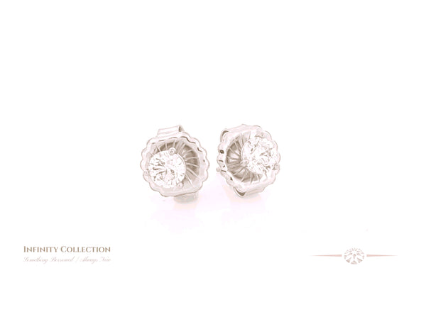 Infinity Box Diamond Stud Earrings