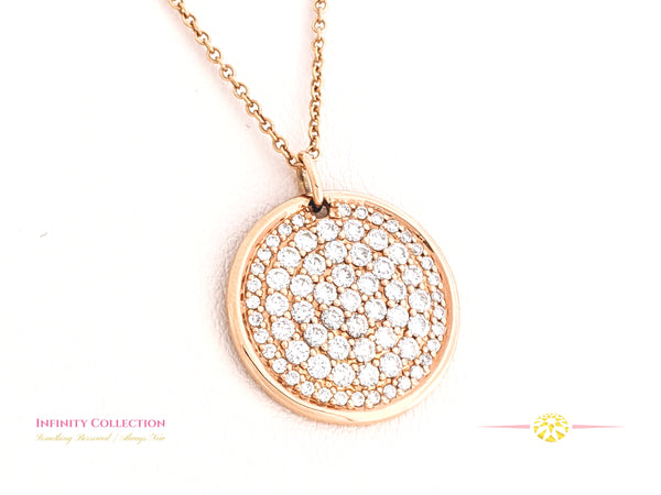 Diamond Pave & Rose Gold Pendant