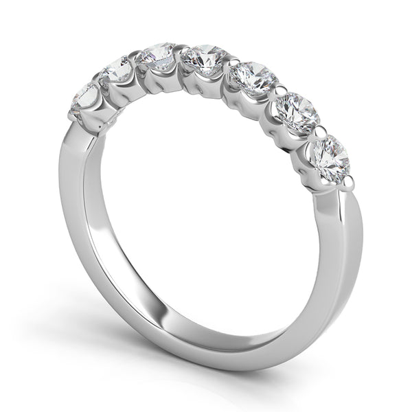 Seven-Stone Royal Prong Diamond Band
