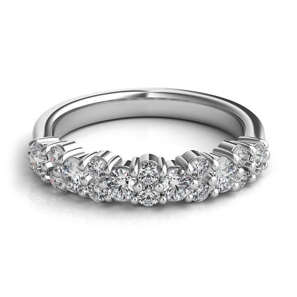 Aludra Closed-Gallery Partway Diamond Band