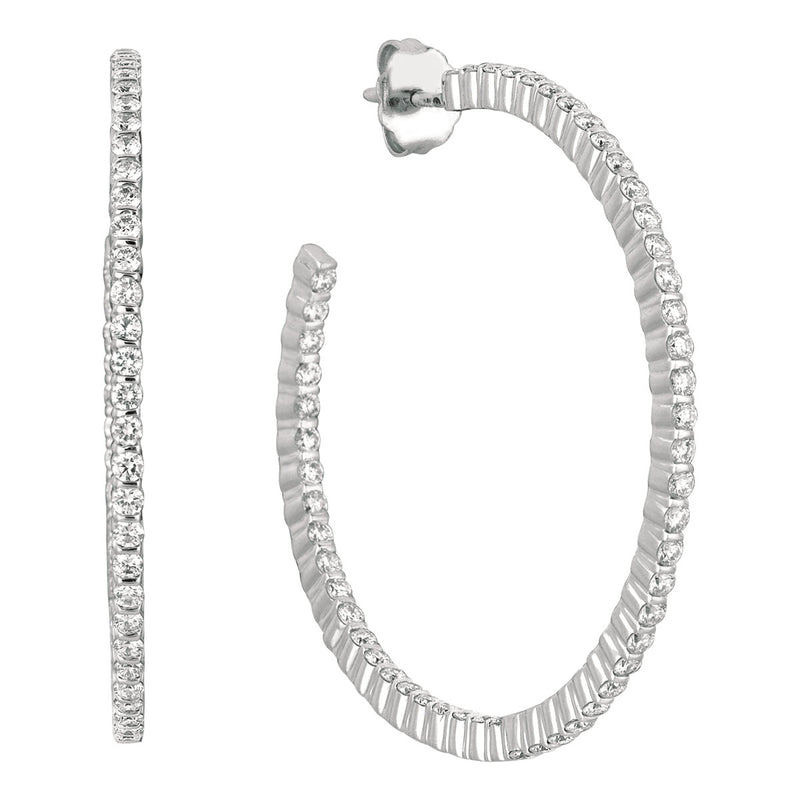 Minilok Miroir Diamond Hoop Earrings