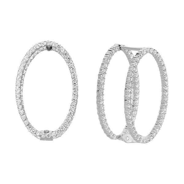 Minilok Miroir Diamond Oval Earrings