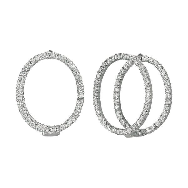 Minilok Miroir Diamond Small Oval Earrings
