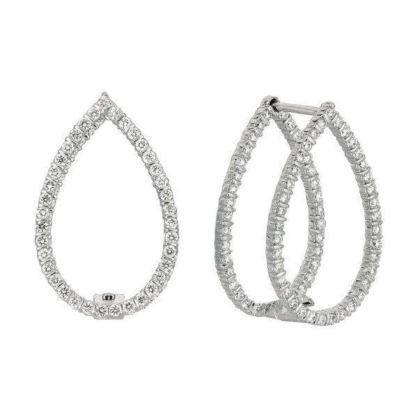 Minilok Miroir Pear Shape Diamond Earrings