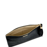 BLACK METALLIC UBER CLUTCH