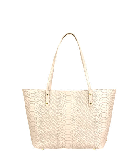 Bone Embossed Mini Taylor Tote
