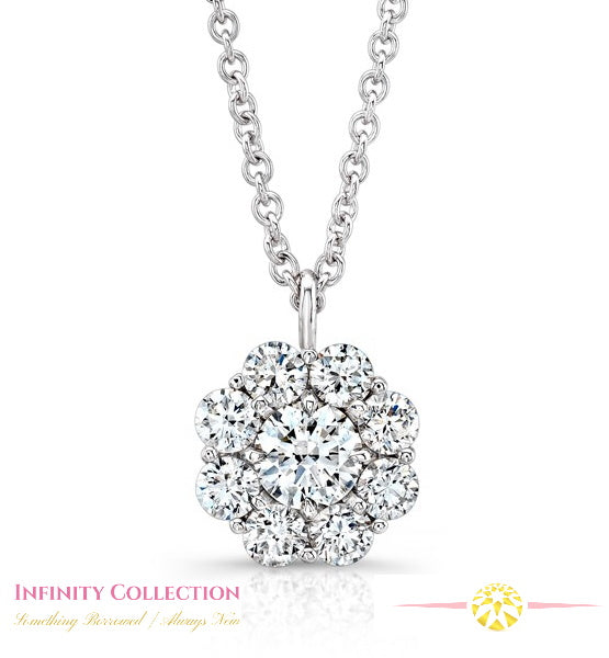 Diamond Bouquet Pendant