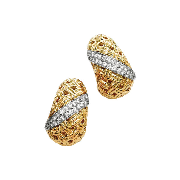 Vannerie Diamond Accent Earrings