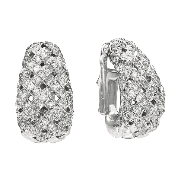 Vannerie Diamond Pave Earrings