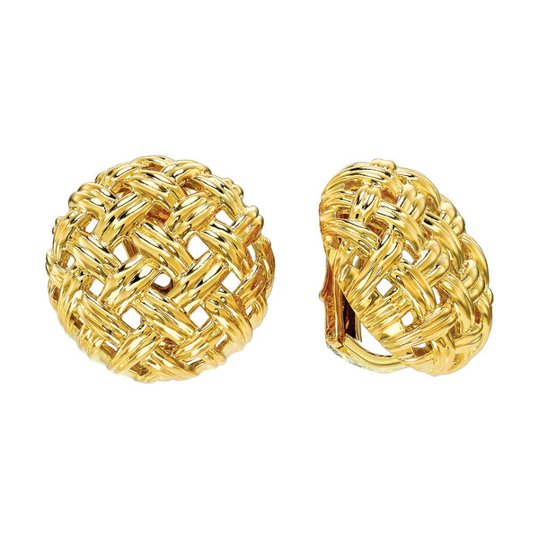 Vannerie Large Button Earrings