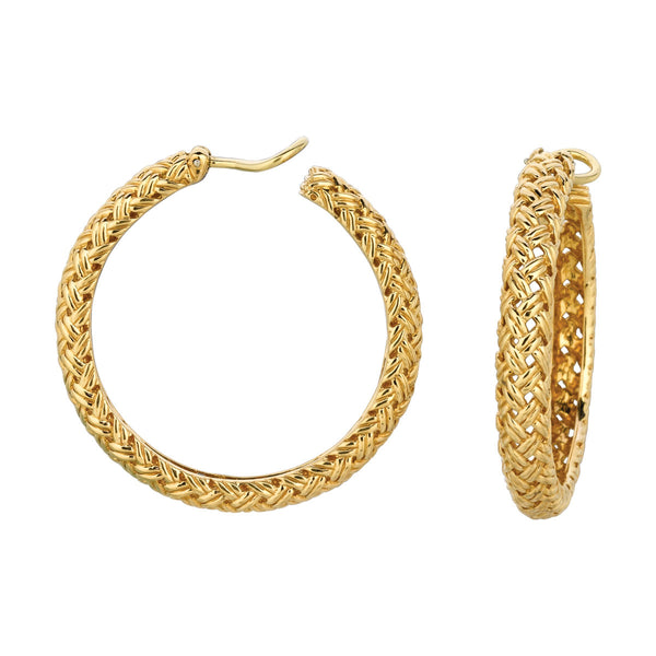 Vannerie Large Hoop Earrings
