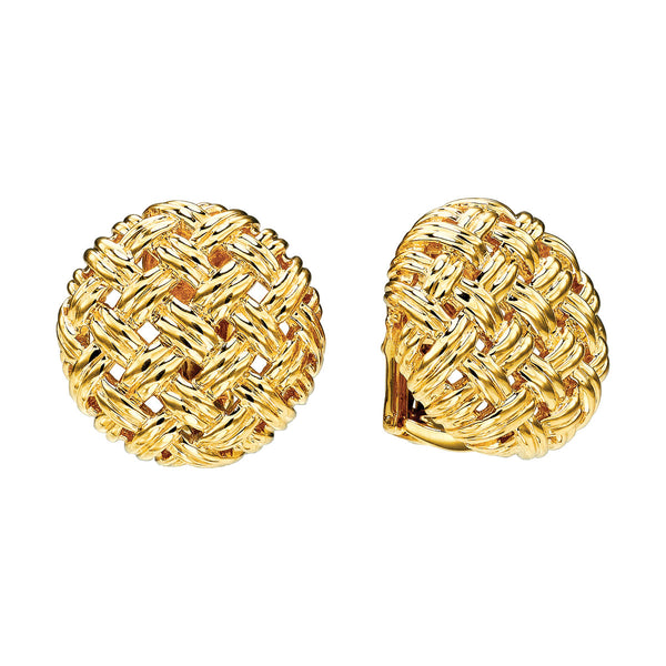 Vannerie Medium Button Earrings