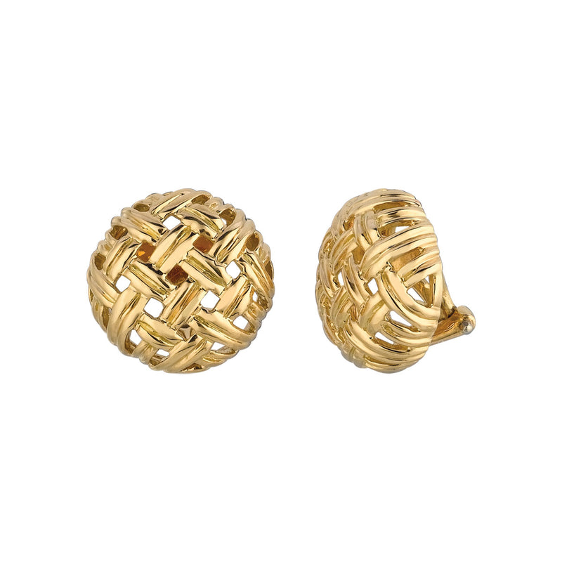 Vannerie Small Button Earrings
