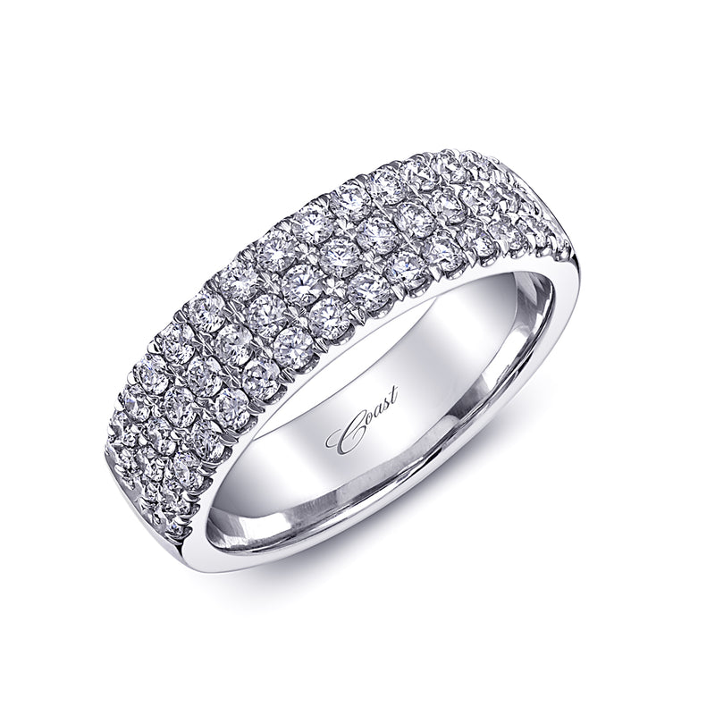 Diamond 3 Row Diamond Wedding Band
